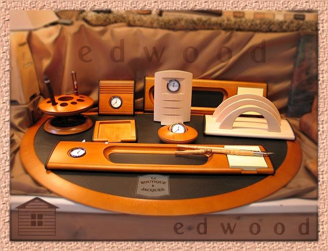 Edwood la boutique jacques artisanat d 39 art - Set de bureau fantaisie ...